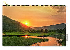 Carry-all Pouch featuring the photograph Pack River Delta Sunset by Albert Seger