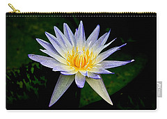 Painted Lily And Pads Carry-all Pouch by Steve McKinzie