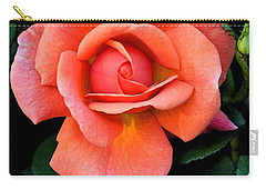 Carry-all Pouch featuring the photograph Painted Rose by Cindy Manero