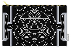 Carry-all Pouch featuring the digital art Palace Hypnosis by Mario Carini