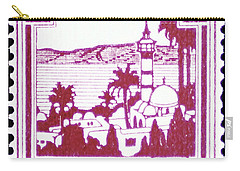 Palestine Vintage Postage Stamp Carry-all Pouch by Andy Prendy