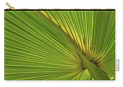 Carry-all Pouch featuring the photograph Palm Leaf II by JD Grimes