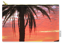 Palm Tree And Dawn Sky Carry-all Pouch