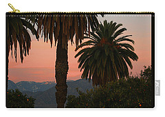 Palm Trees And Orange Trees Carry-all Pouch