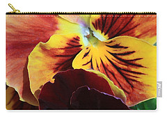 Carry-all Pouch featuring the photograph Pansies by Donna Corless