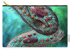Carry-all Pouch featuring the digital art Paramecium by Russell Kightley