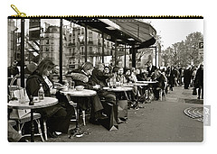 Carry-all Pouch featuring the photograph Paris Cafe by Eric Tressler