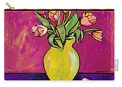 Parrot Tulips In A Yellow Vase Carry-all Pouch