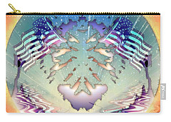 Carry-all Pouch featuring the painting Patriotic Reflections by Mario Carini