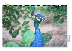 Carry-all Pouch featuring the photograph Peacock by Donna  Smith