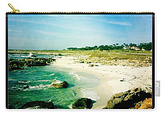 Carry-all Pouch featuring the photograph Pebble Beach by Nina Prommer