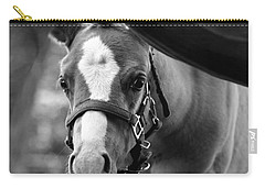 Peek'a Boo - Black And White Carry-all Pouch