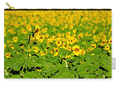 Carry-all Pouch featuring the photograph Peeking Above  Sea Of Yellow by Colleen Coccia