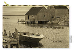 Peggys Cove In Sepia Carry-all Pouch by Richard Bryce and Family