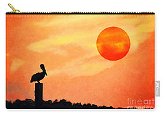 Carry-all Pouch featuring the photograph Pelican During Hot Day by Dan Friend