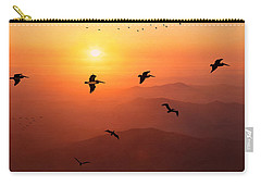 Carry-all Pouch featuring the photograph Pelican Migration by Chris Lord