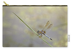 Carry-all Pouch featuring the photograph Perched Dragon In Sepia by JD Grimes