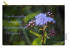 Philippians Verse Carry-all Pouch by Lena Auxier