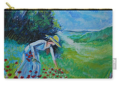 Picking Flowers Carry-all Pouch by Leslie Allen