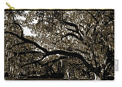 Carry-all Pouch featuring the photograph Picnic Under The Oak by DigiArt Diaries by Vicky B Fuller