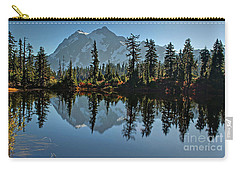 Carry-all Pouch featuring the photograph Picture Lake - Heather Meadows Landscape In Autumn Art Prints by Valerie Garner