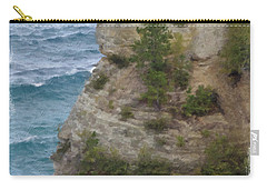 Carry-all Pouch featuring the photograph Pictured Rocks In Oil by Deniece Platt