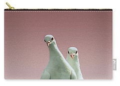 Pigeons In The Pink Carry-all Pouch by Linsey Williams