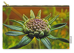 Carry-all Pouch featuring the photograph Pinchshin Bud by Debbie Portwood