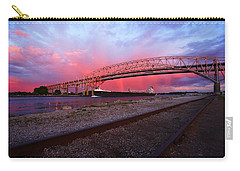 Carry-all Pouch featuring the photograph Pink And Blue by Gordon Dean II