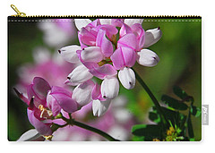 Carry-all Pouch featuring the photograph Pink And White by Cindy Manero