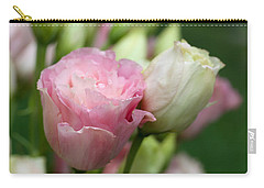 Pink And White Lisianthus Carry-all Pouch