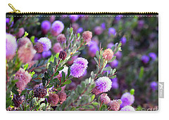 Pink Fuzzy Balls Carry-all Pouch by Clayton Bruster