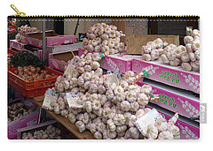 Carry-all Pouch featuring the photograph Pink Garlic by Carla Parris