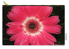 Carry-all Pouch featuring the photograph Pink Gerbera Daisy by Kerri Mortenson