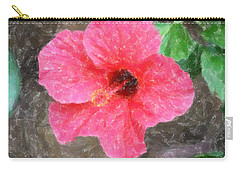 Carry-all Pouch featuring the photograph Pink Hibiscus by Donna  Smith