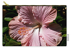 Pink Hibiscus Carry-all Pouch by Karen Harrison