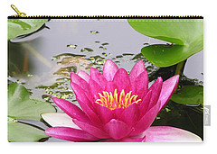 Pink Lily Flower  Carry-all Pouch by Diane Greco-Lesser