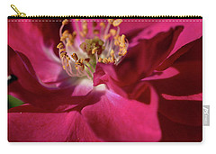 Carry-all Pouch featuring the photograph Pink Of Rose by Joy Watson
