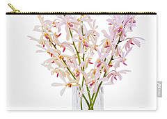 Pink Orchid In Vase Carry-all Pouch