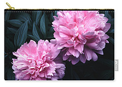 Pink Peony Pair Carry-all Pouch