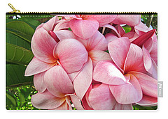 Pink Plumerias Carry-all Pouch