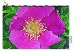 Pink Portulaca Carry-all Pouch by Tikvah's Hope