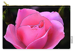 Pink Rose Day Carry-all Pouch by Clayton Bruster