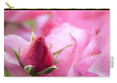 Carry-all Pouch featuring the photograph Pink Rose by Jeannette Hunt