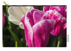 Carry-all Pouch featuring the photograph Pink Tulip by David Gleeson