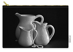Pitchers By The Window In Black And White Carry-all Pouch by Sherry Hallemeier
