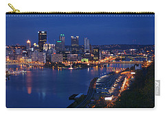 Pittsburgh In Blue Carry-all Pouch