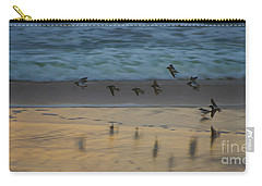 Plovers At Play On A Stormy Morning Carry-all Pouch
