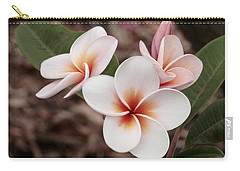 Carry-all Pouch featuring the photograph Plumeria   Kona Hawii by James Steele