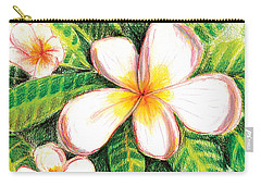 Plumeria With Foliage Carry-all Pouch